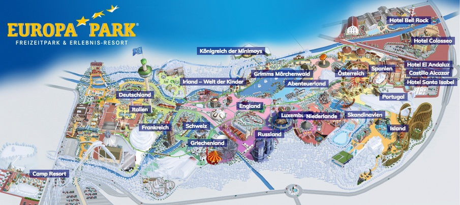 Europapark Themenbereiche Karte.ᐅ Europa Park In Rust Infos Zu Attraktionen Preisen